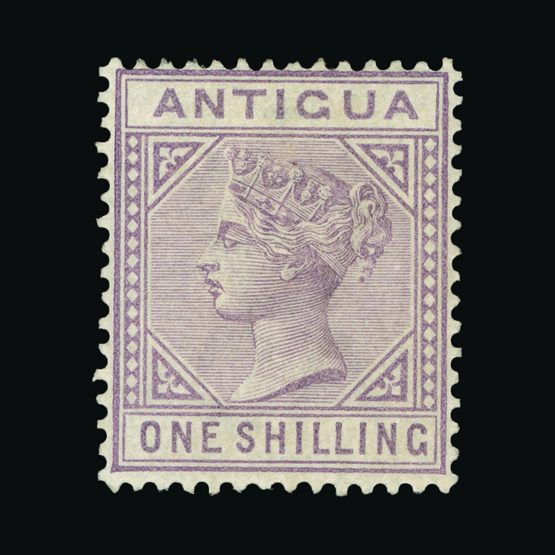 Lot 360 - antigua 1884-87 -  Universal Philatelic Auctions Sale #72