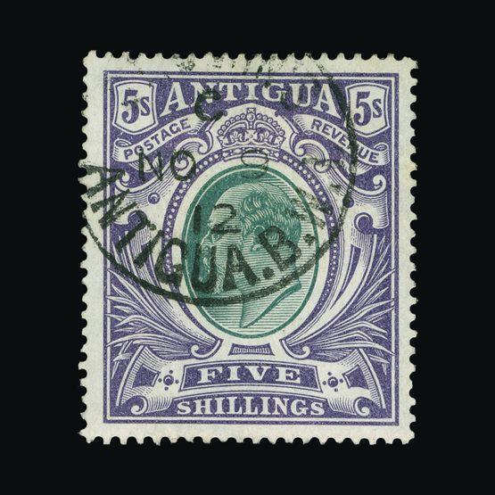Lot 373 - antigua 1903-07 -  Universal Philatelic Auctions Sale #72