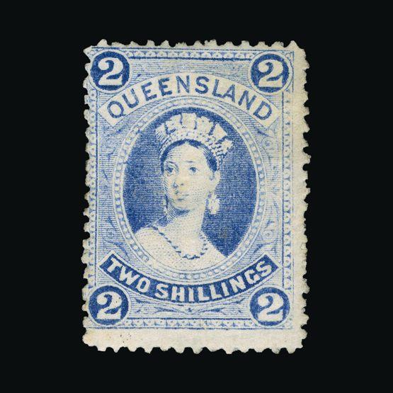 Lot 1105 - Australia - States - Queensland 1886 (Nov) -  Universal Philatelic Auctions Sale #73