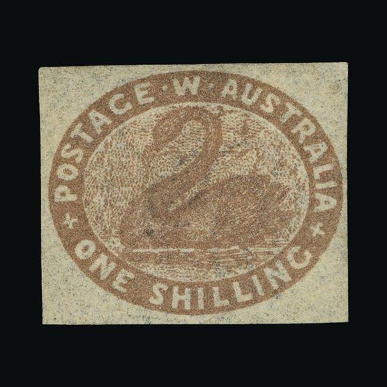 Lot 1197 - Australia - States - Western Australia 1854-55 -  Universal Philatelic Auctions Sale #73
