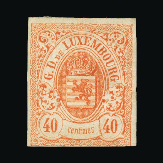 Lot 13333 - Luxembourg 1859-63 -  Universal Philatelic Auctions Sale #73