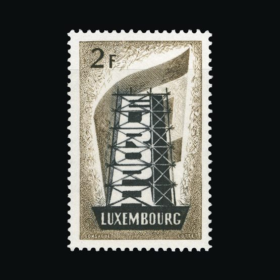 Lot 13351 - Luxembourg 1956 -  Universal Philatelic Auctions Sale #73