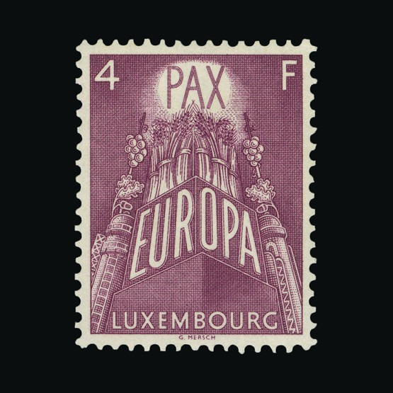 Lot 13362 - Luxembourg 1957 -  Universal Philatelic Auctions Sale #73