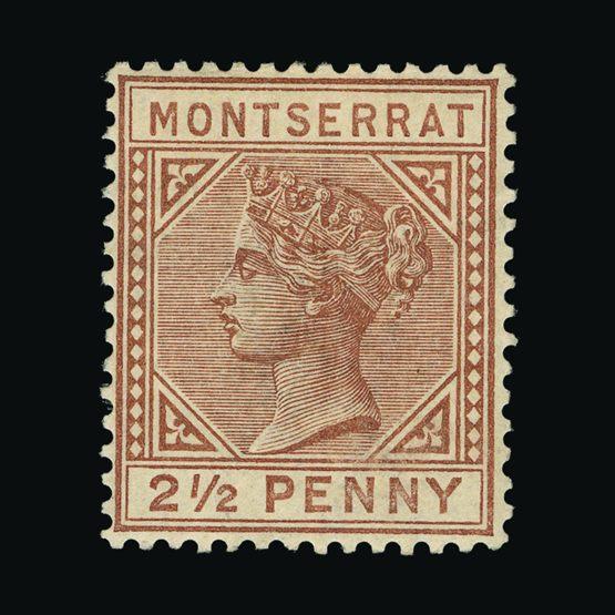 Lot 14775 - montserrat 1884-85 -  Universal Philatelic Auctions Sale #73