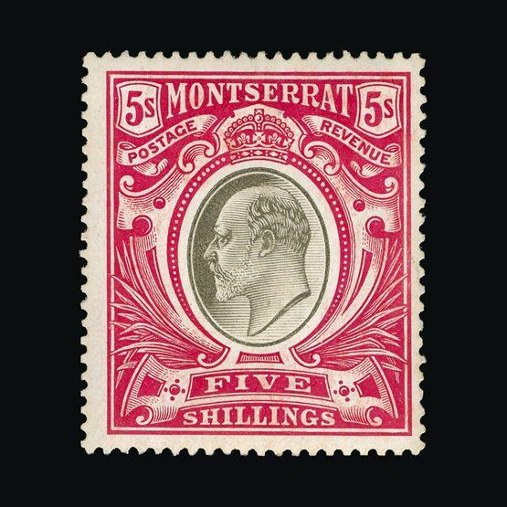 Lot 14784 - montserrat 1904-08 -  Universal Philatelic Auctions Sale #73