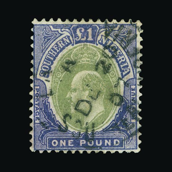 Lot 15978 - nigeria - southern nigeria 1906 -  Universal Philatelic Auctions Sale #73