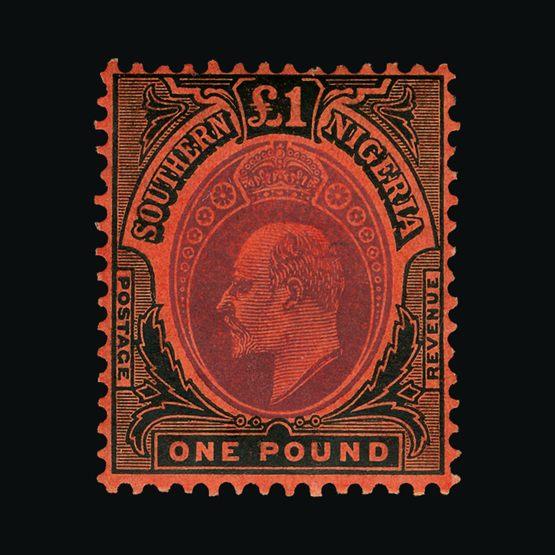 Lot 15979 - nigeria - southern nigeria 1907-11 -  Universal Philatelic Auctions Sale #73