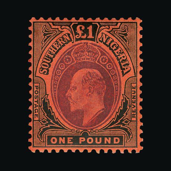 Lot 15980 - nigeria - southern nigeria 1907-11 -  Universal Philatelic Auctions Sale #73
