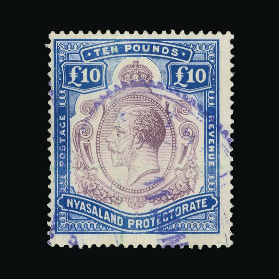 Lot 16415 - nyasaland 1913-21 -  Universal Philatelic Auctions Sale #73