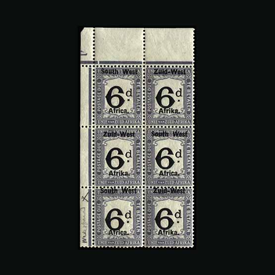 Lot 18240 - south west africa 1923 -  Universal Philatelic Auctions Sale #73