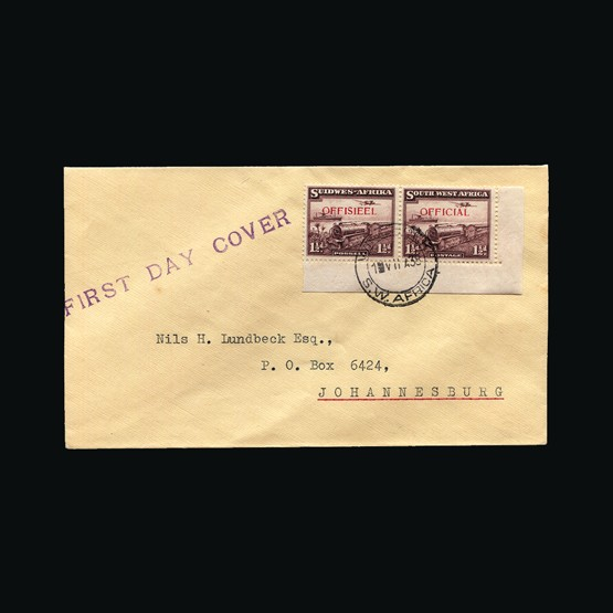 Lot 18293 - south west africa 1938 -  Universal Philatelic Auctions Sale #73