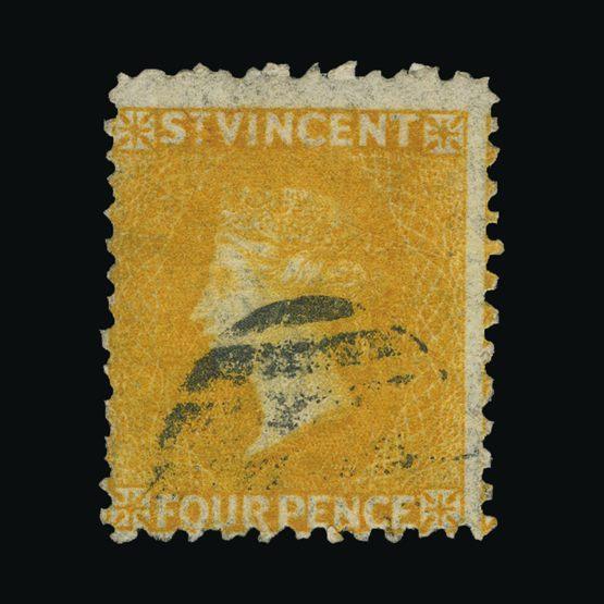 Lot 18724 - st. vincent 1869 -  Universal Philatelic Auctions Sale #73