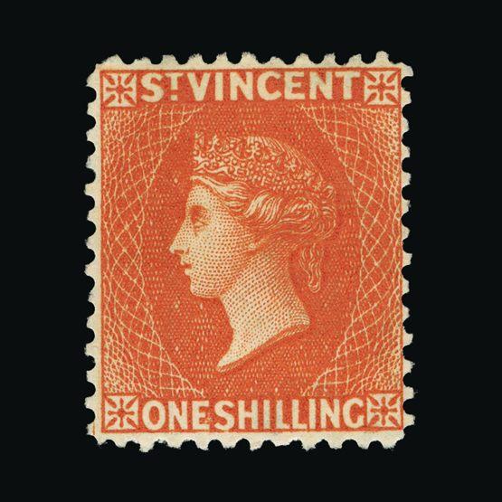 Lot 18785 - st. vincent 1883-84 -  Universal Philatelic Auctions Sale #73