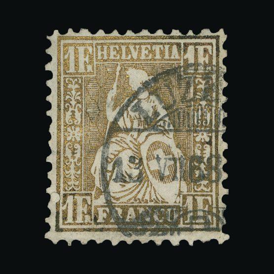 Lot 19084 - Switzerland 1863 -  Universal Philatelic Auctions Sale #73
