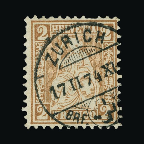Lot 19085 - Switzerland 1867-78 -  Universal Philatelic Auctions Sale #73