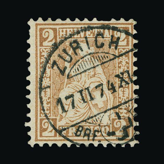 Lot 19085 - Switzerland 1867-78 -  Universal Philatelic Auctions Sale #73