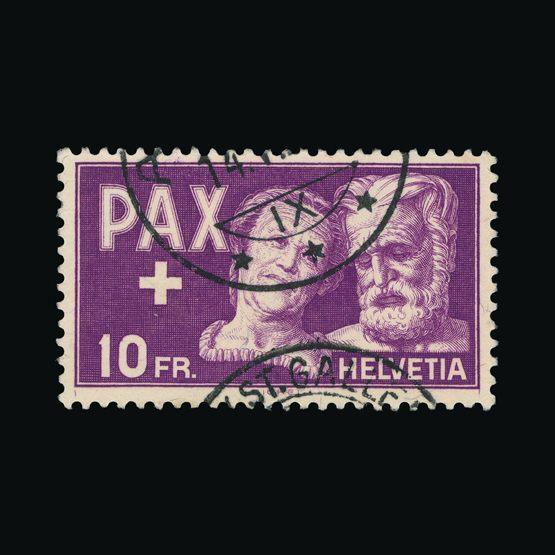Lot 19186 - Switzerland 1945 -  Universal Philatelic Auctions Sale #73