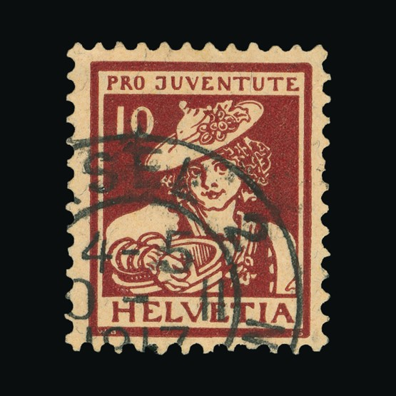 Lot 19234 - Switzerland - Pro Juventute 1916 -  Universal Philatelic Auctions Sale #73