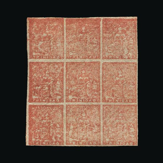 Lot 19460 - trinidad and tobago 1860 -  Universal Philatelic Auctions Sale #73