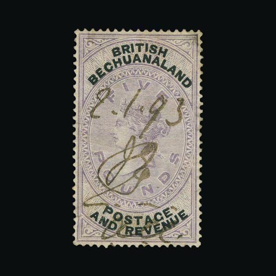 Lot 1949 - bechuanaland 1888 -  Universal Philatelic Auctions Sale #73