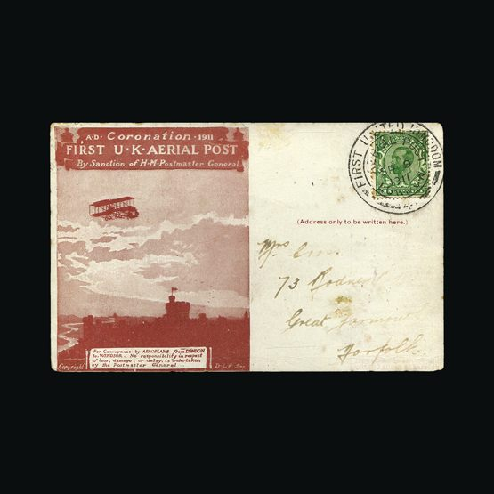 Lot 20812 - Great Britain - Covers - Airmails 1911 -  Universal Philatelic Auctions Sale #73