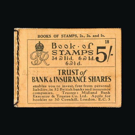 Lot 20909 - Great Britain - Booklets 1937 -  Universal Philatelic Auctions Sale #73