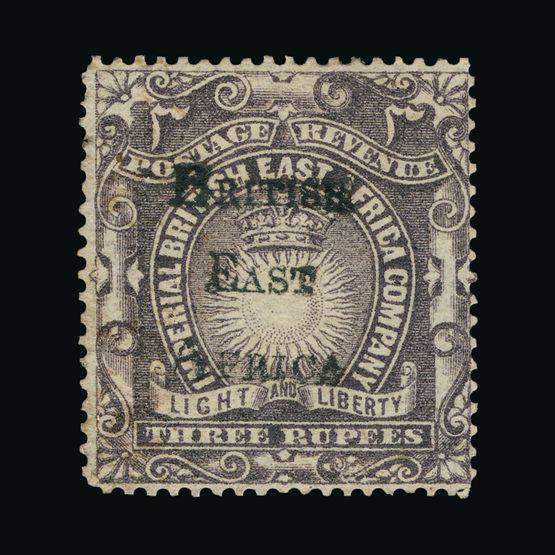 Lot 2600 - british east africa 1895 -  Universal Philatelic Auctions Sale #73