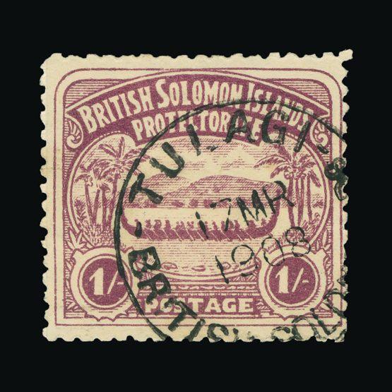 Lot 2970 - british solomon islands 1907 -  Universal Philatelic Auctions Sale #73