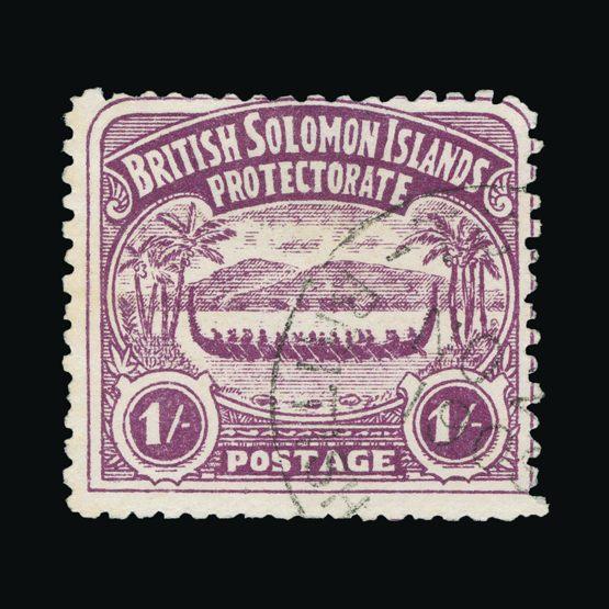 Lot 2975 - british solomon islands 1907 -  Universal Philatelic Auctions Sale #73