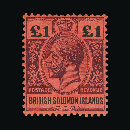 Lot 2999 - british solomon islands 1914-23 -  Universal Philatelic Auctions Sale #73