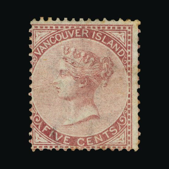 Lot 3684 - Canada - British Columbia and Vancouver Island 1865 -  Universal Philatelic Auctions Sale #73