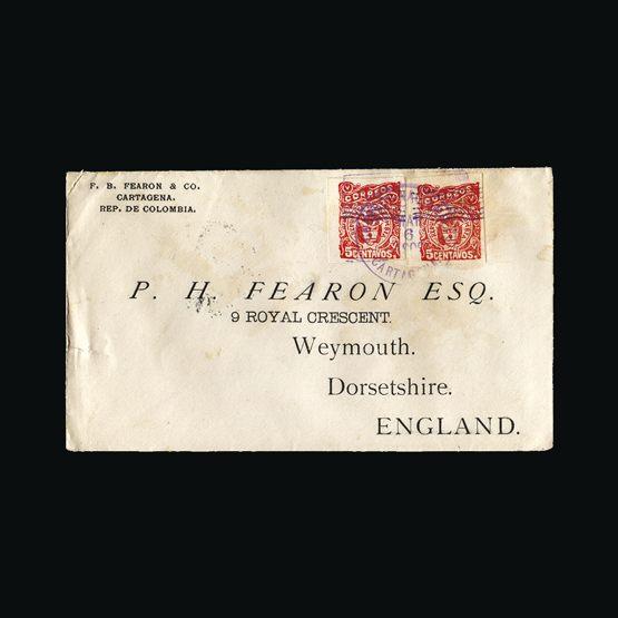 Lot 4238 - Colombia 1900 -  Universal Philatelic Auctions Sale #73