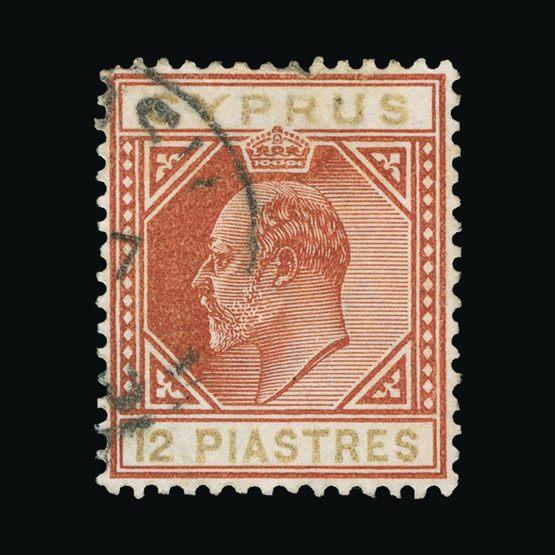 Lot 4564 - Cyprus 1902-04 -  Universal Philatelic Auctions Sale #73