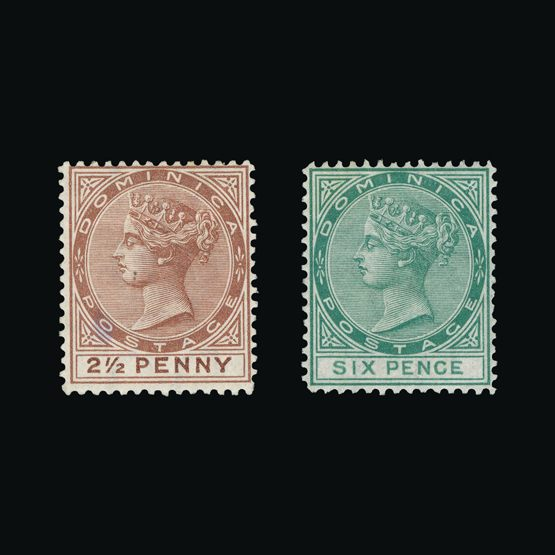 Lot 4819 - dominica 1877-79 -  Universal Philatelic Auctions Sale #73