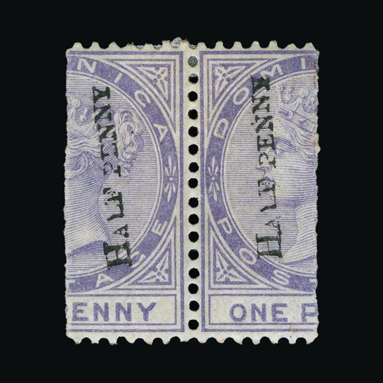 Lot 4830 - dominica 1882-83 -  Universal Philatelic Auctions Sale #73