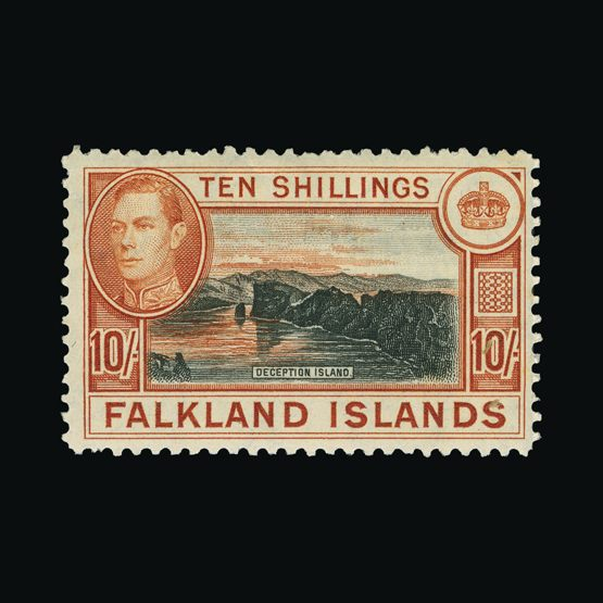 Lot 5300 - falkland islands 1938-50 -  Universal Philatelic Auctions Sale #73