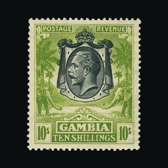 Lot 6260 - gambia 1922-29 -  Universal Philatelic Auctions Sale #73