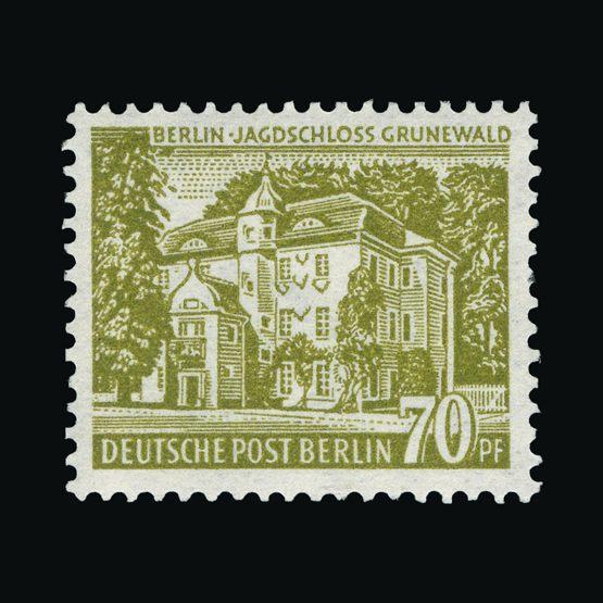 Lot 6443 - germany - west berlin 1954 -  Universal Philatelic Auctions Sale #73