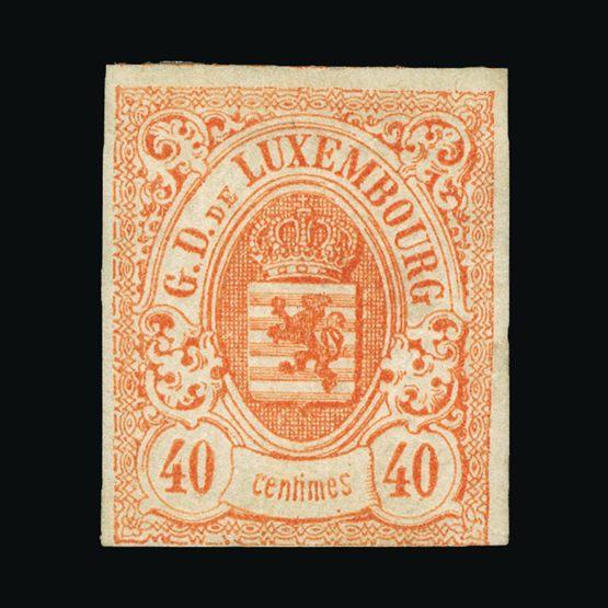 Lot 14002 - Luxembourg 1859-63 -  Universal Philatelic Auctions Sale #74