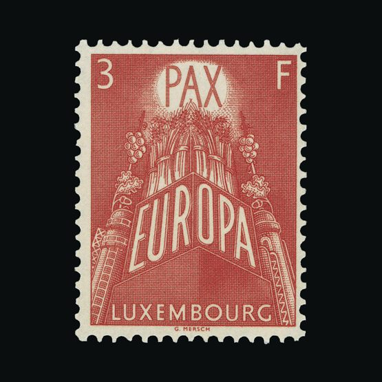 Lot 14024 - Luxembourg 1957 -  Universal Philatelic Auctions Sale #74