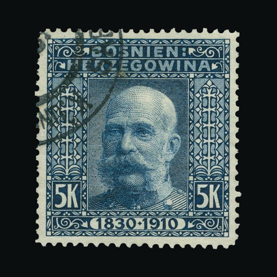 Lot 2395 - bosnia and herzegovina 1910 -  Universal Philatelic Auctions Sale #74