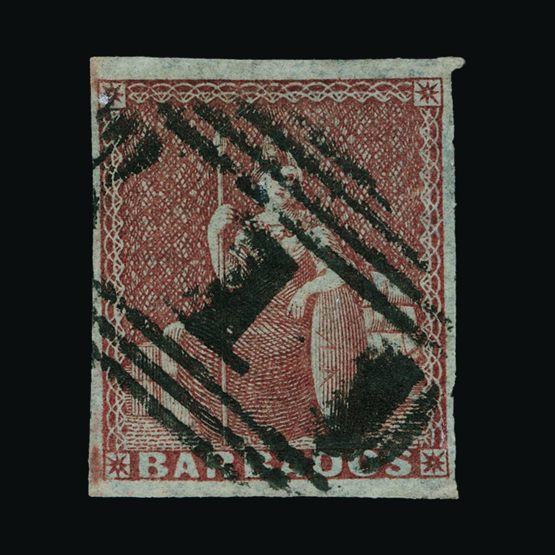 Lot 1387 - barbados 1852-55 -  Universal Philatelic Auctions Sale #75 | Unsold lots at reserve prices (80% of estimate)