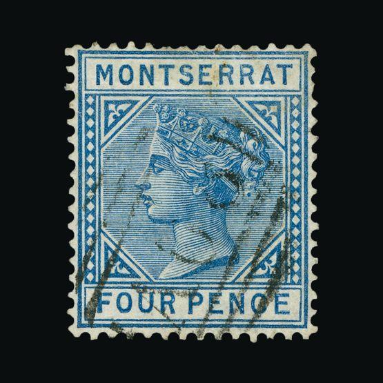 Lot 14863 - montserrat 1884-85 -  Universal Philatelic Auctions Sale #75