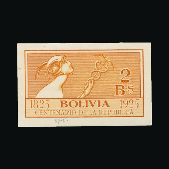 Lot 2011 - bolivia 1925 -  Universal Philatelic Auctions Sale #75
