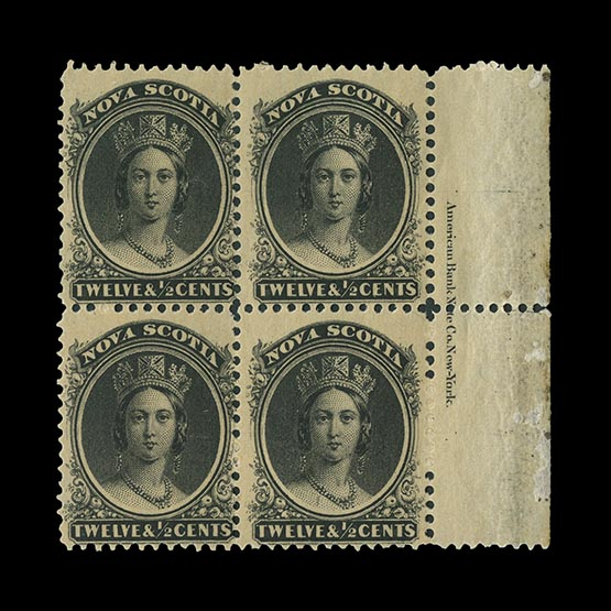 Lot 3237 - canada - nova scotia 1860-63 -  Universal Philatelic Auctions Sale #75 | Unsold lots at reserve prices (80% of estimate)