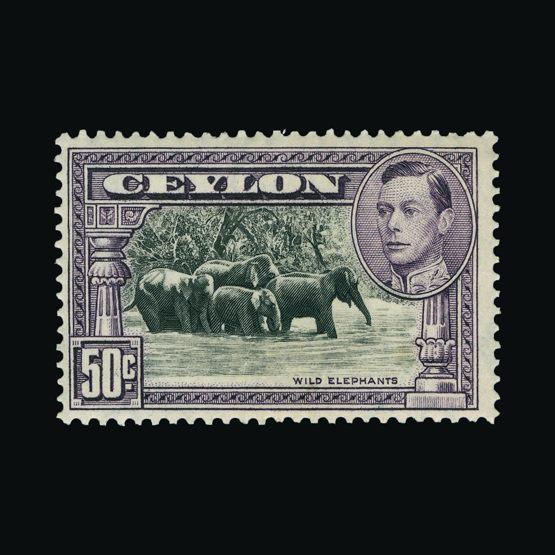 Lot 3484 - Ceylon 1938-49 -  Universal Philatelic Auctions Sale #75