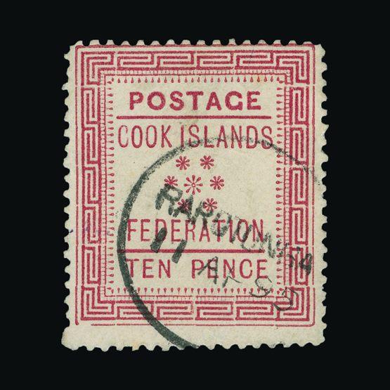 Lot 3748 - cook islands 1892 -  Universal Philatelic Auctions Sale #75