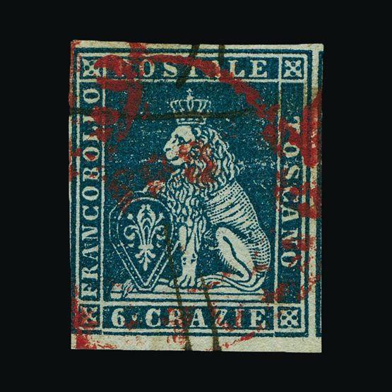 Lot 12491 - Italy - States - Tuscany 1851-52 -  Universal Philatelic Auctions Sale #76 worldwide Collections