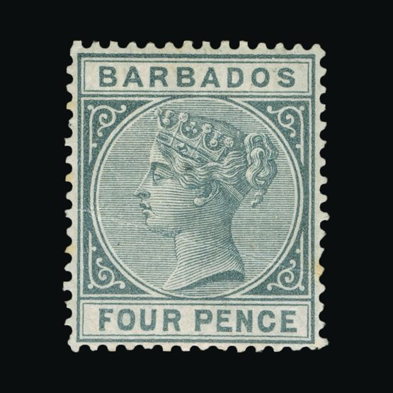 Lot 1307 - barbados 1882-86 -  Universal Philatelic Auctions Sale #76 worldwide Collections