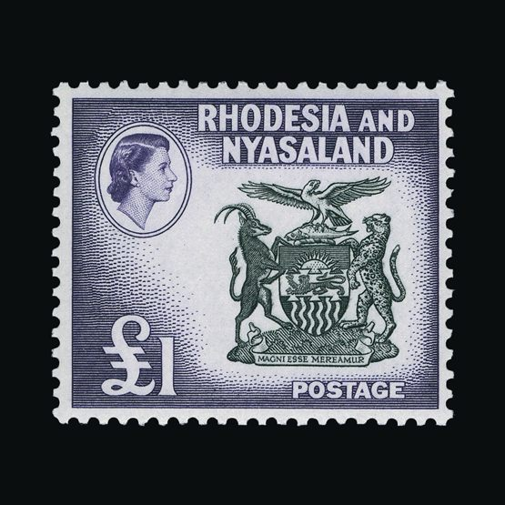 Lot 17069 - rhodesia and nyasaland 1959-62 -  Universal Philatelic Auctions Sale #76 worldwide Collections